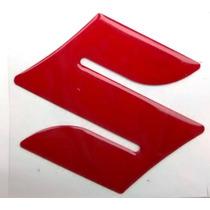 Emblema S Resinado Tanque Suzuki Bandit Srad Yes Vermelho
