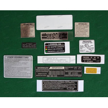 Adesivos Advertência Honda Cbx 750 87 Originais 7galo
