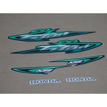 Kit Adesivo Honda Cg 125 Titan Kse 2003 Verde - Frete R$9,90