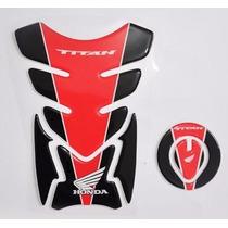 Protetor Tanque Tankpad + Bocal Fuel M1 Moto Honda Titan 150