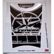 Adesivo Resinado Tankpad Yamaha Ténéré 250 Estrela Preto