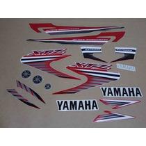 Kit Adesivos Yamaha Xtz 125 2007 Vermelha