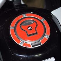 Protetor Relevo 3d Bocal Tanque Vermelho Moto Honda Fan 160