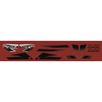 Adesivos Kasinski Crz 150 Off Road Kit Completo Vermelho