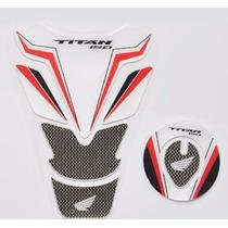 Protetor Tanque Tankpad + Bocal Fuel M2 Moto Honda Titan 150