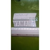 Adesivo Yamaha Rabeta Rd 350 Prata Fundo Transp