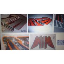 Kit Jogo Adesivo Honda Pop 100 07 08 09 10 11 12 13 14