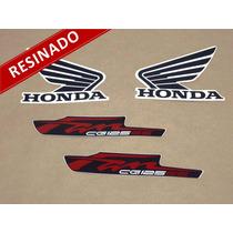 Kit Adesivos Cg Fan 125 Es 2012 Vermelha - Resinado - Decalx