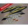 Kit Adesivos Nxr150 Ks Bros 2008 Amarela - Resinado - Decalx