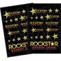 2 Cartelas De Adesivos Em Vinil Rockstar