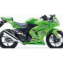 Adesivio Moto Kawasaki Ninja 250 R Kit Monster Ninjinha