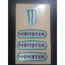Kit De Adesivo Refletivo Personalizado Para Capacete Monster