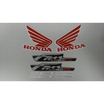 Kit Adesivos Honda Fan 150 2012 Esi Preta