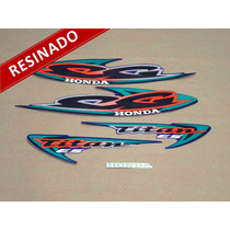 Kit Adesivos Cg Titan Es 2000 Azul - Resinado - Decalx