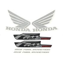 Kit Adesivos Honda Fan Cg 150 Esdi 2012 Vermelha