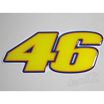 Adesivo 46 Valentino Rossi Yamaha Resinado 5x12 Cms - Decalx