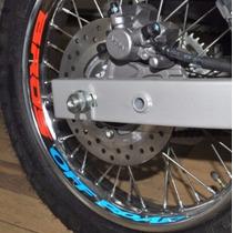 Kit Adesivo Refletivo Roda Road Moto Honda Bros 160 125 150