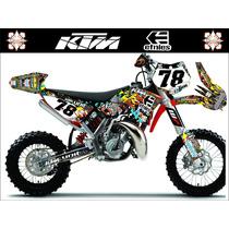 Kit De Adesivos Personalizados - Ktm 50 / 65cc