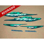 Kit Adesivos Cg Titan Ks 2003 Verde - Resinado - Decalx