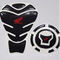 Protetor Tanque 3d Tankpad + Bocal Bk1 Moto Honda Cg Fan 160