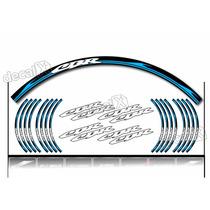 Kit Adesivo Friso Refletivo Roda Moto Honda Cbr Fri52