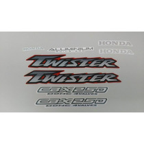 Kit Adesivos Honda Cbx 250 Twister 2001 2002 Vermelha