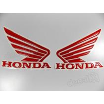 Adesivos Asa Honda Tanque Hornet 2013 Resinado Vermelho