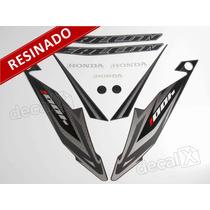 Kit Adesivos Honda Falcon Nx4 2013 Preta - Resinado - Decalx