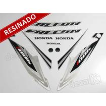 Kit Adesivos Honda Falcon Nx4 2013 Prata - Resinado - Decalx