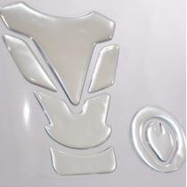Protetor 3d Tankpad Tanque Bocal Cromado Moto Honda Fan 125