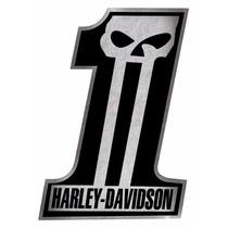 Adesivos Numero 1 Harley Davidson Pequeno Cromada Resinados
