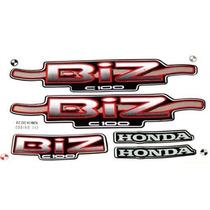 Adesivos Honda Biz 100 Ks 2002 Preta (partida À Pedal)