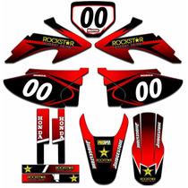 Kit Adesivos Gráficos Moto Crf 230 Completo Crf230 Mod Crf30
