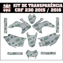 Adesivo Gráfico Transparente Crf 230 06 A 2015 Kit Completo