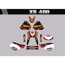 Kit Adesivos Gráficos Para Moto Xr 400 Cola 3m Importada