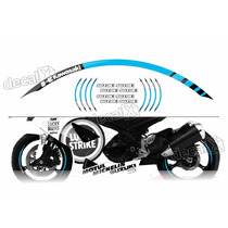 Kit Adesivo Friso Refletivo Roda Moto Suzuki Fri43 Decalx