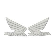Par Adesivos Honda Do Tanque Moto Preta Titan 150 Original