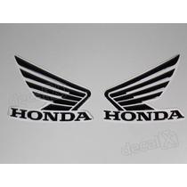 Adesivos Asa Honda Tanque Hornet 2013 Resinado Preto