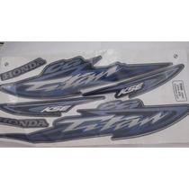 Jogo Adesivo Titan Cg 125 Kse 2003 Azul