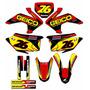 Kit Adesivos Graficos Crf 230 Ano 2015 Moto Crfmd-04