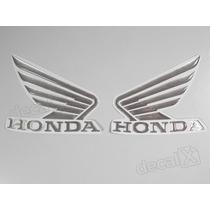 Adesivos Asa Honda Resinado Tanque Titan Aco Escovado Decalx