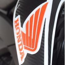 Kit Adesivo Faixa Refletivo Asa Tanque Moto Honda Bros 160