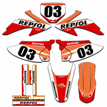 Kit Adesivos Gráficos Moto Crf 230 Completo Crf230 Mod Crf04