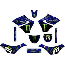 Kit Adesivo Grafico Plotagem Moto Trilha Motocross Falcon