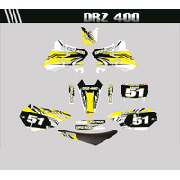 Kit Adesivos Completo Para Moto Drz 400 + Capa De Banco