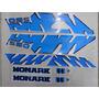 Jogo De Faixa Mobilete Monark S50 (modelo Novo) Azul