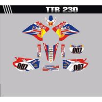 Kit Adesivos Gráficos Para Moto Ttr 230 Cola 3m Importada