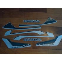 Adesivos Jogo De Faixas Honda Cb 450 Dx 93 /94 Verde