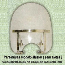 Parabrisa Master P/ Drag, Shadow 750, Midnight 950, Boulevar