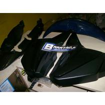 Kit Honda Cg 125 Fan Laterais Rabeta Para Lama 09 À 12 Preta